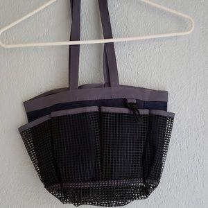 NWOT Shower Caddy mesh & canvas POCKETS & HOOK